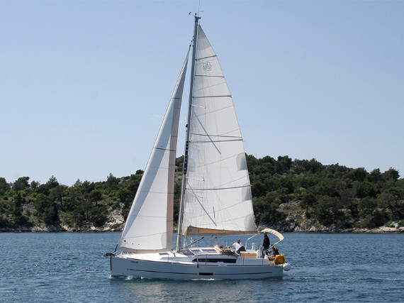 Bareboat Sail boat Dufour 350 GL Luka (webasto, solar panel, additional water tank, shallow draft) - details